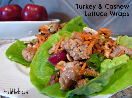 Turkey & Cashew Lettuce Wraps