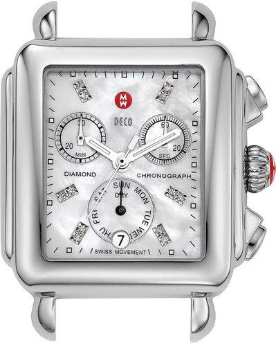 MICHELE 'Deco' Diamond Dial Watch Case