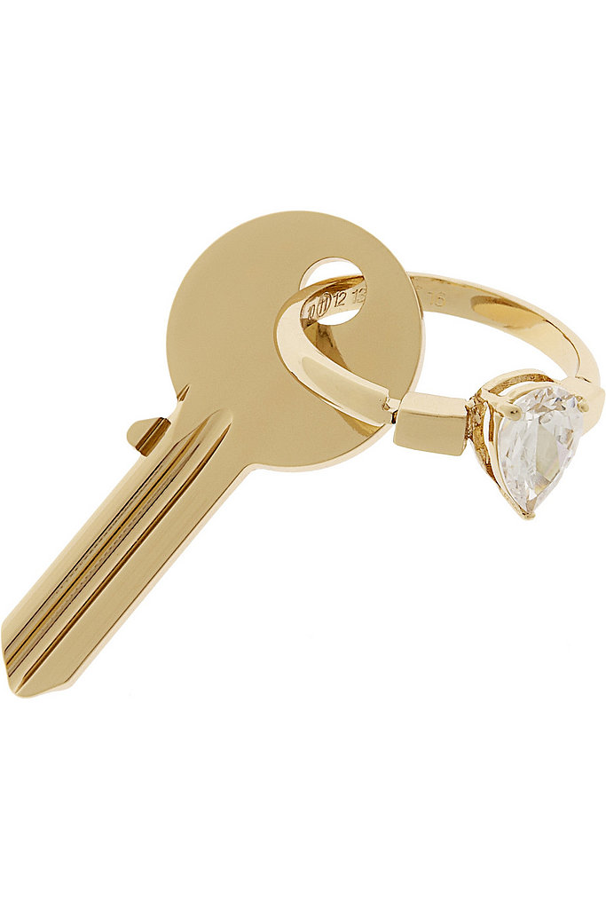 New digs require a fresh key chain. Even if your grad is heading back to crash with parents, consider this pretty Maison Martin Margiela gold number ($315) incentive enough to start apartment-hunting.