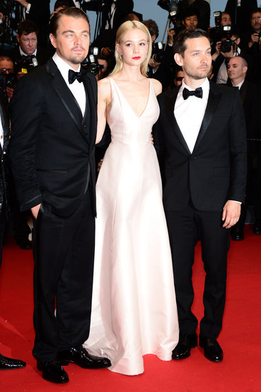 Leonardo DiCaprio kicked off the Cannes festivities with his costars Carey Mulligan and Tobey Maguire at the premiere of their film The Great Gatsby.