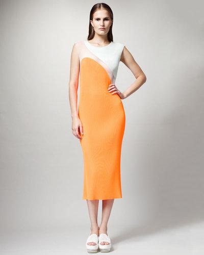 Stella McCartney Colorblock Plisse Dress
