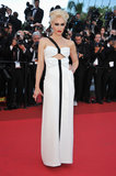 Gwen Stefani wore a Giorgio Armani dress to the 2011 Cannes premiere of This Must Be the Place.