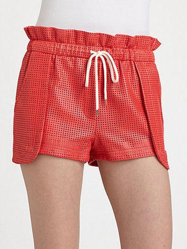 Rebecca Minkoff Mika Perforated Leather Shorts