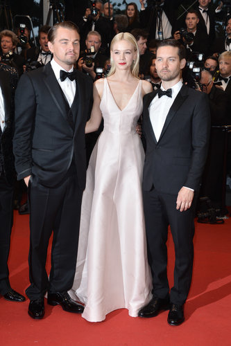 Carey Mulligan (with Saint Laurent-clad costars Leonardo DiCaprio and Tobey Maguire) turned up at the premiere of The Great Gatsby in an ultraminimalistic blush gown by Dior Haute Couture, accented by Tiffany & Co. jewels.