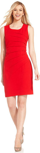 Calvin Klein Dress, Sleeveless Seamed Sheath