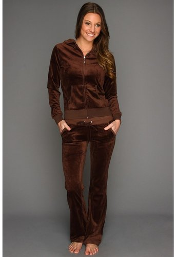 Culture Phit - Nataly Velour Track Suit (Brown) - Apparel