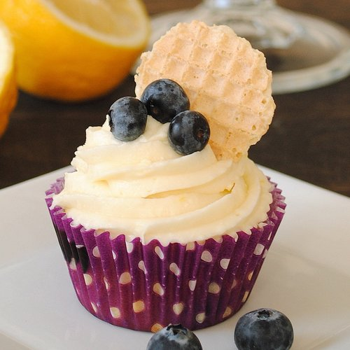 Blueberry Cupcakes w Lemon Frosting