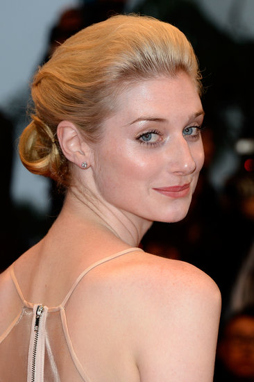 The Great Gatsby actress Elizabeth Debicki wore a tucked-under updo that's perfect for brides looking to think outside the box.