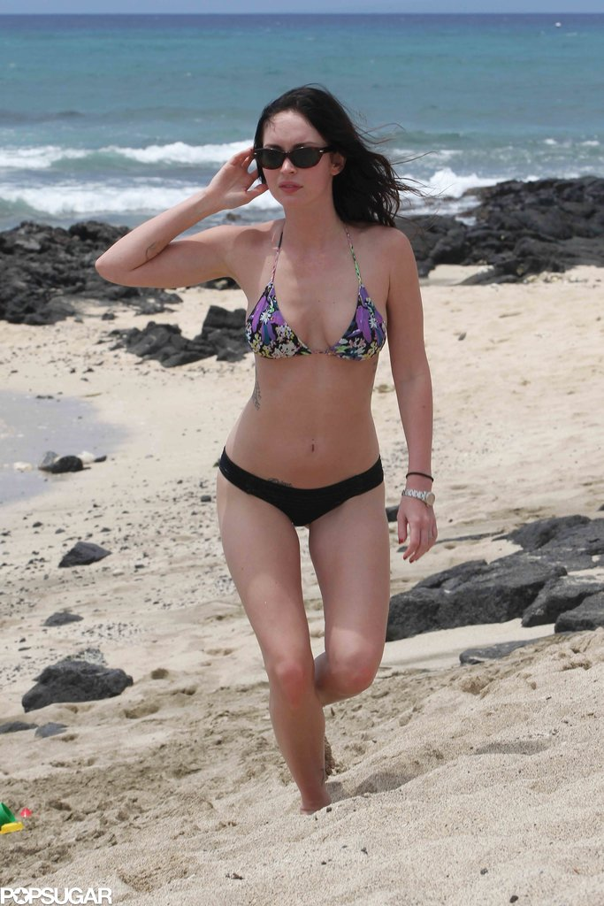 Megan Fox flaunted her bikini body on the beach in Hawaii in June 2011.