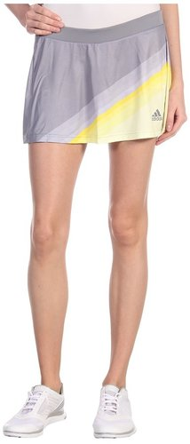 adidas - adizero Skort (Tech Grey/Vivid Yellow) - Apparel