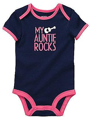 """Carter ́s Newborn """"My Auntie Rocks"""" Bodysuit"""