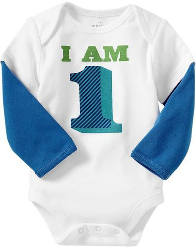 """""""I Am 1"""" 2-in-1 Bodysuits for Baby"""