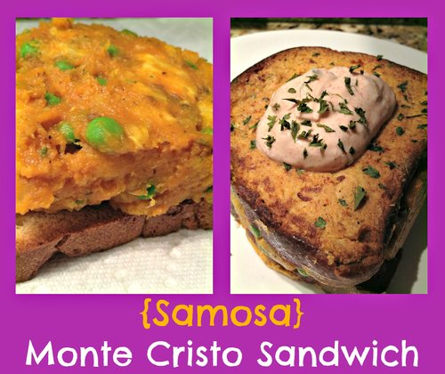 Samosa Monte Cristo Sandwich