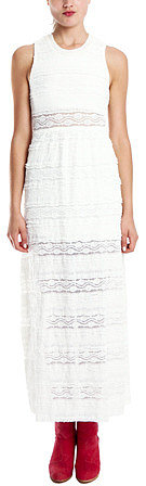 Charlotte Ronson Lace Maxi Dress in White