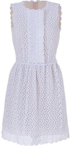 Valentino R.E.D. White Embroidered Dress