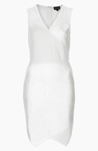 Topshop Lace Applique Dress