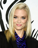 The always chic Jaime King opted for a sleek, side-parted blowout and kohl-rimmed eyes.
