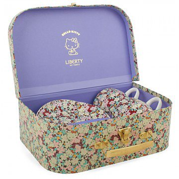 She'll have the chicest tea party ever with Liberty's Hello Kitty tea set ($20).