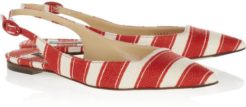 Dolce & Gabbana Striped canvas slingbacks