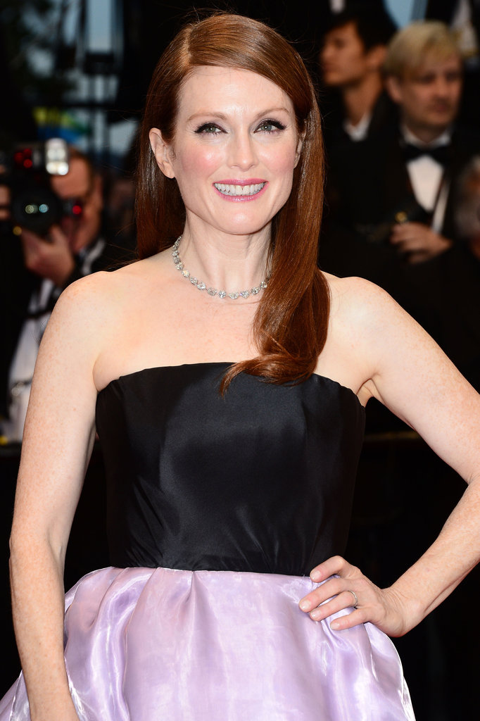 Julianne Moore graced the red carpet for The Great Gatsby with her hair sleek and parted on the side. Her makeup focused on the eyes, with L'Oreal Infallible Lacquer Liner 24H in Espresso ($10) used to define. Her cheeks were flushed with the brand's True Match Super-Blendable Blush in Tender Rose ($11), and her lips were swiped with Colour Riche Lipcolour in Mauved ($10).