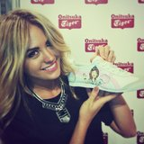 Jesinta Campbell received a cute customised pair of sneakers from ASICS. Source: Instagram user jesinta_campbell