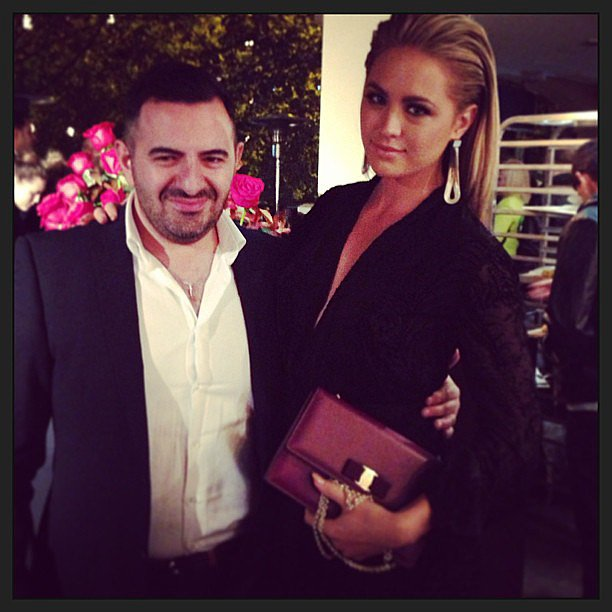Jesinta Campbell attended an event with wedding dress designer Steven Khalil. Source: Instagram user jesinta_campbell