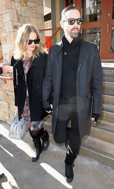 Over the knee boots work a treat for Kate Bosworth.