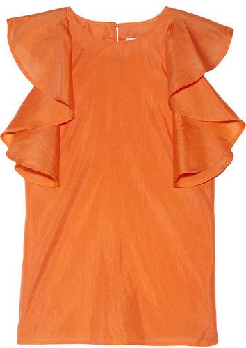 See by Chloé Ruffled silk-gauze top
