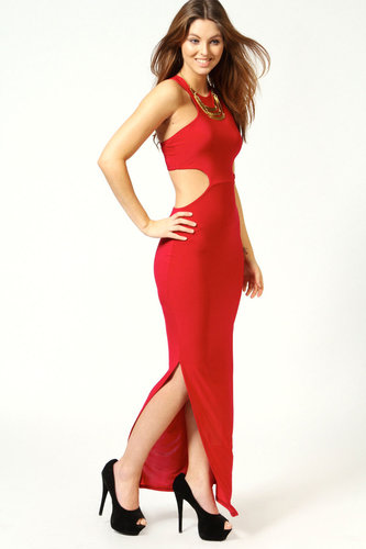 Danielle Cross Back Side Split Maxi Dress