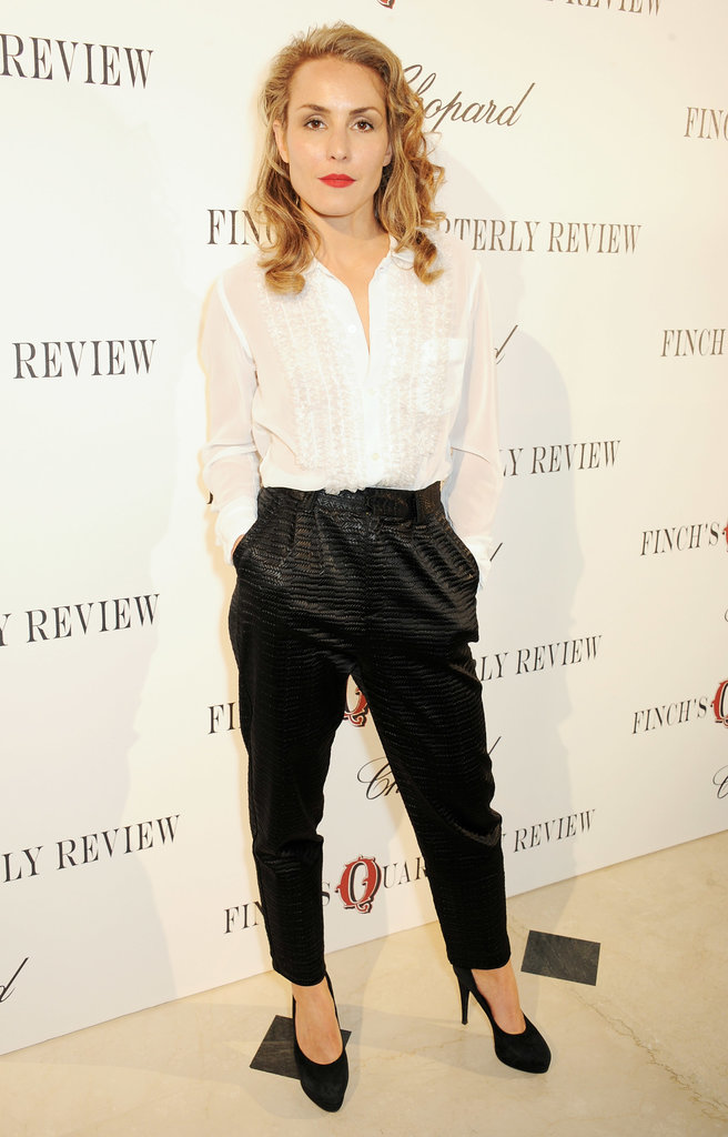 Noomi Rapace went for a simple look on Friday at Finch's Quarterly Review.