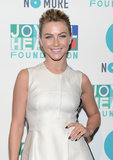 Julianne Hough rocked dark nails accented with nail jewels on her ring finger. You can get a similar look with your favorite nail color on all your nails, but accent the ring finger with rhinestones or glitter.