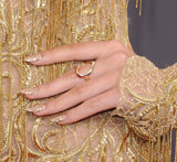 Selena Gomez rocked a superglitzy nail polish at the MTV Movie Awards, which would also be fitting for the bride who doesn't mind going for full-on sparkle.