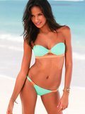 Extra bands give this Victoria's Secret bandeau ($20) and bottoms ($14) a little something special.