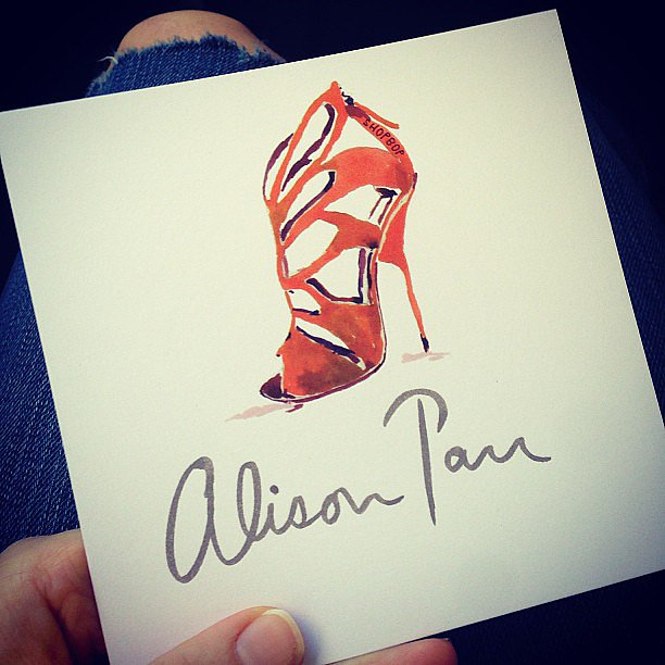A pretty momento from Ali's lunch with the fabulous Shopbop team.