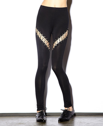 FOREVER 21 Lace-Up Leggings