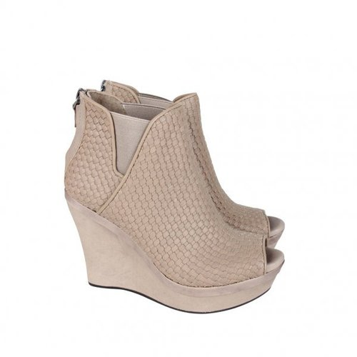 Ugg Australia Womens Fawn Woven Peeptoe Wedge Ankle Boots