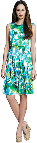 JONES NEW YORK COLLECTION Pleated Floral Print Dress
