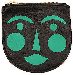 Baggu The Small Painted Blushing Face Pouch in Black