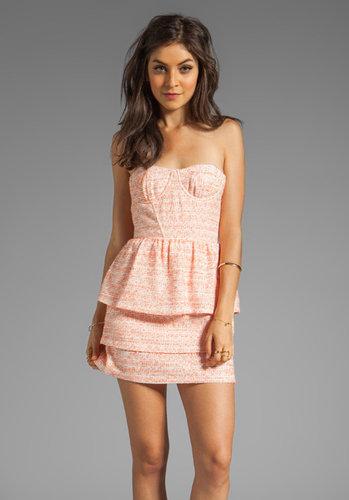 Alice + Olivia Shellyanne Bra Tank Tiered Skirt Dress