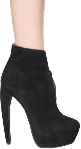 Amanda Bootie in Black Suede - by Jeffrey Campbell