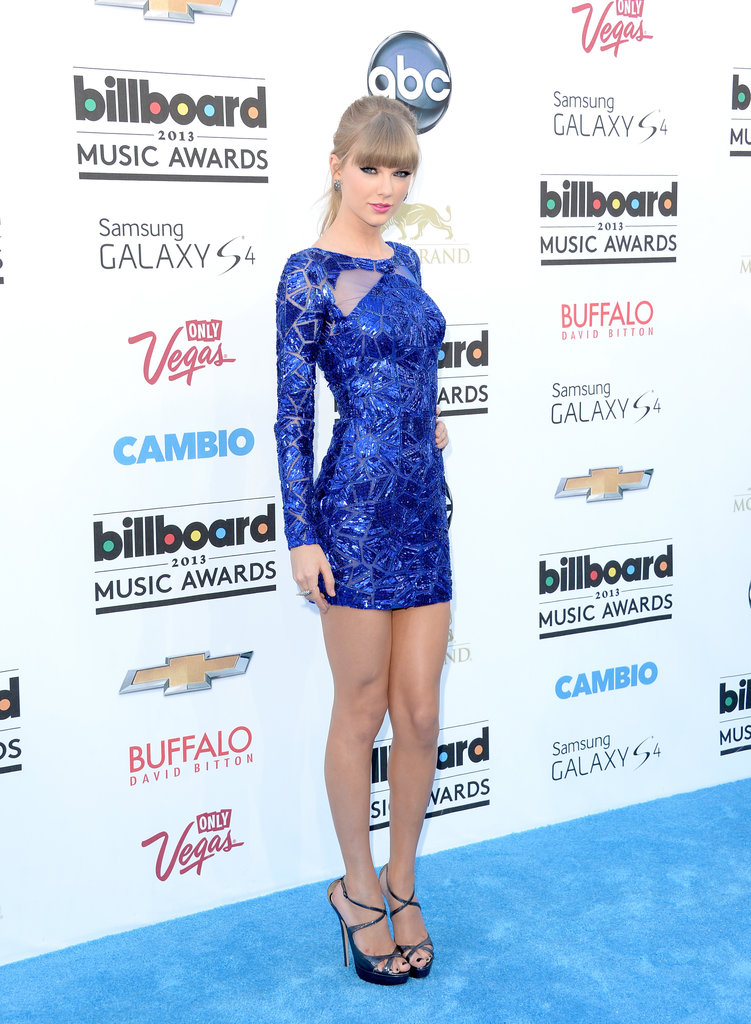 Taylor Swift Is Feeling 22 in Blue for Billboard Awards