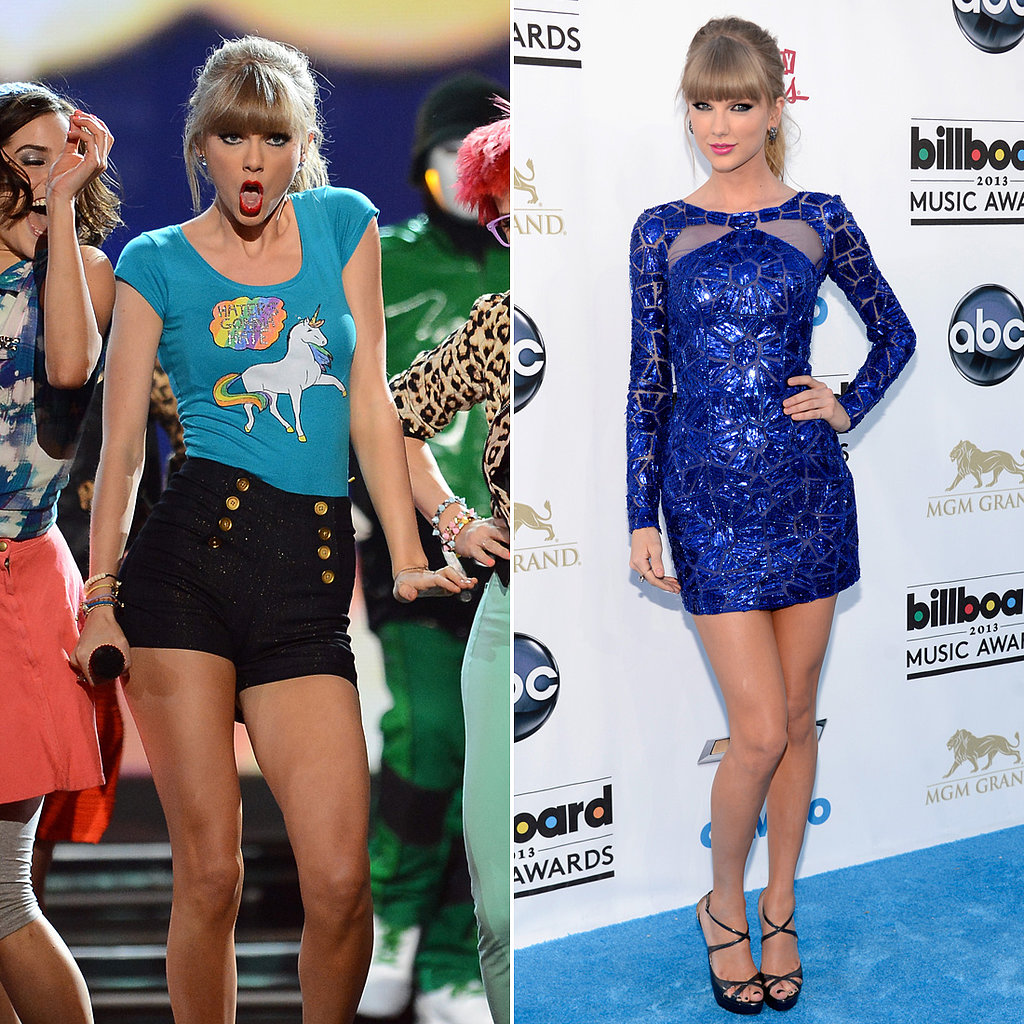 "Taylor Swift Wears ""Haters Gonna Hate"" Shirt For Billboard Performance"