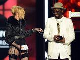 Madonna and will.i.am joked around onstage.