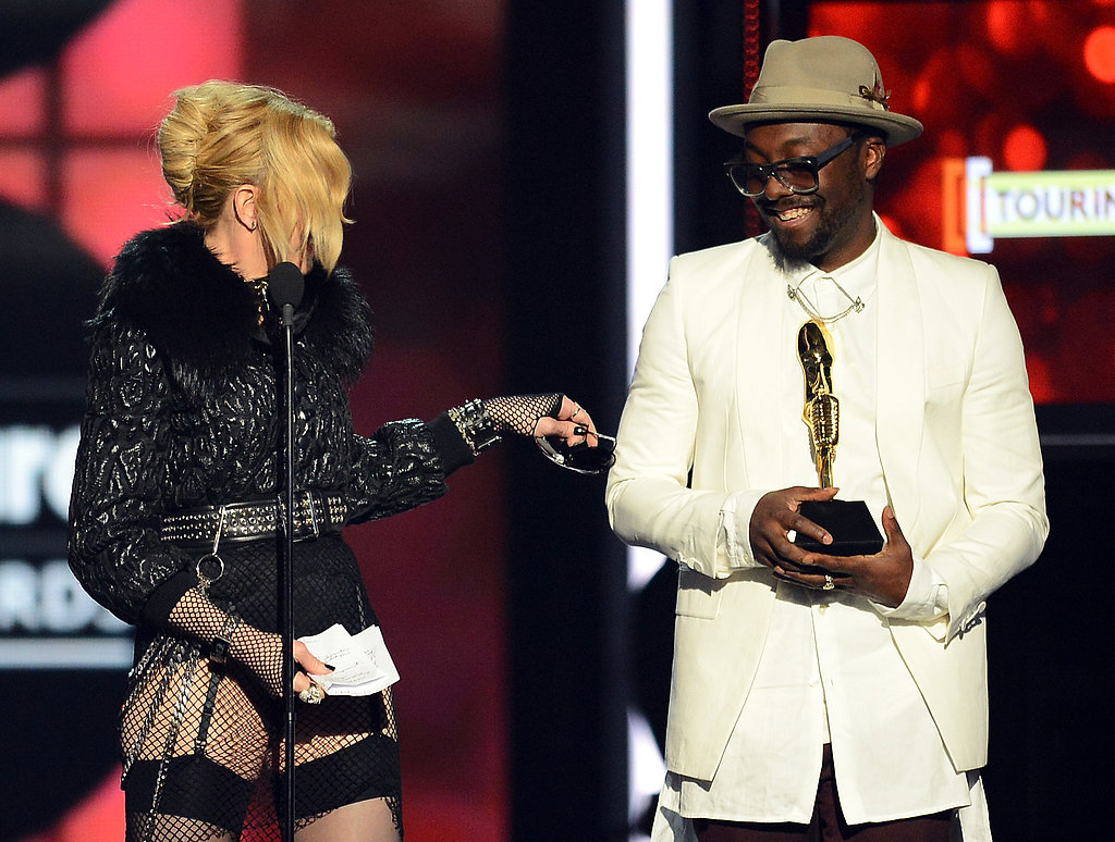 Madonna and will.i.am joked around onstage.
