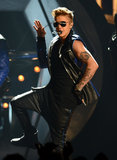Justin Bieber performed alongside will.i.am at the Billboard Music Awards.