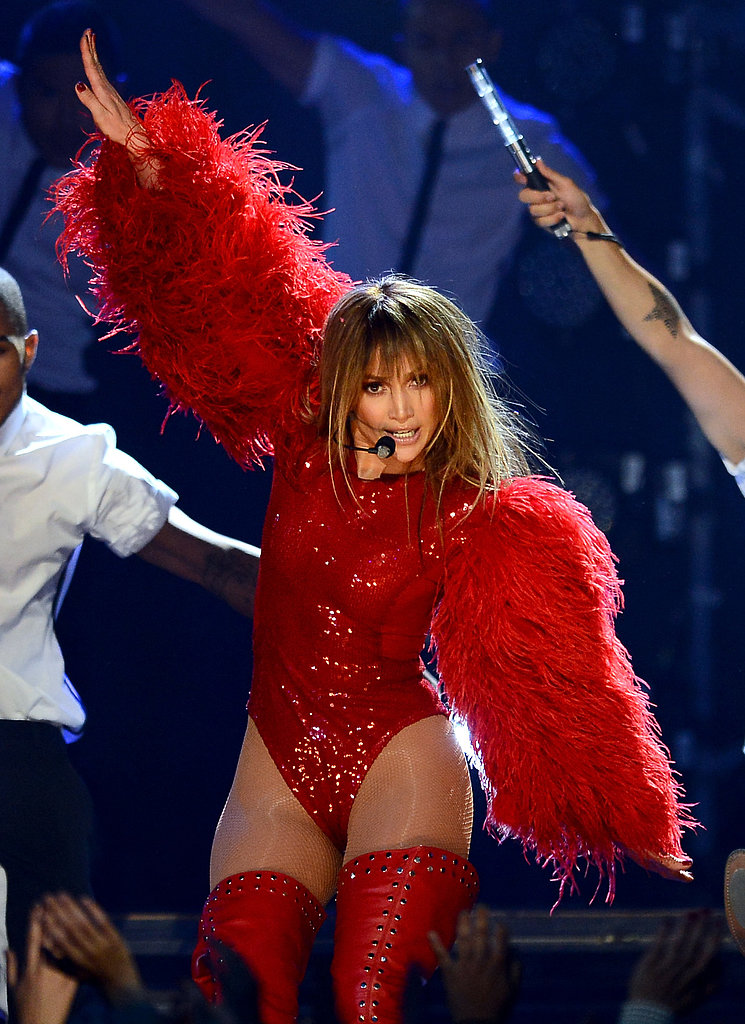 Jennifer Lopez got the crowd going with her performance.