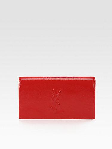 Saint Laurent Saint Laurent Belle De Jour Patent Leather Clutch