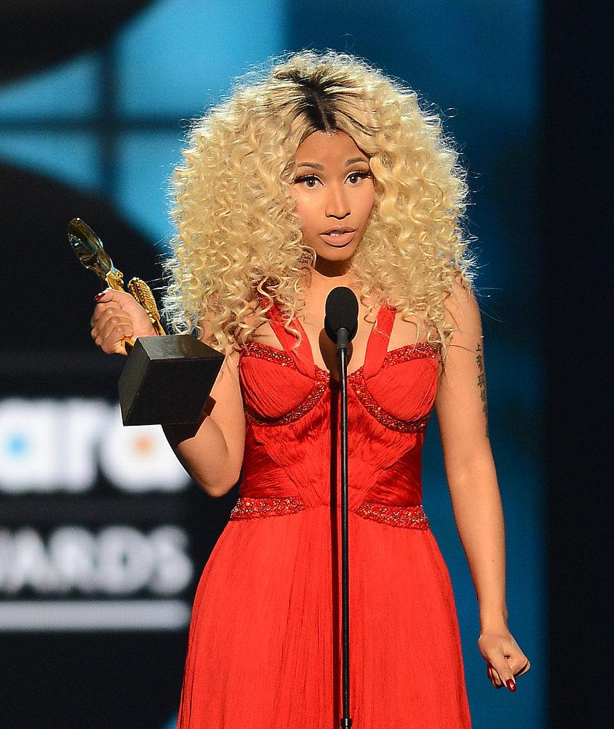 Nicki Minaj thanked fans during her acceptance speech.