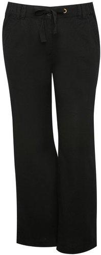 Plus casual linen trouser