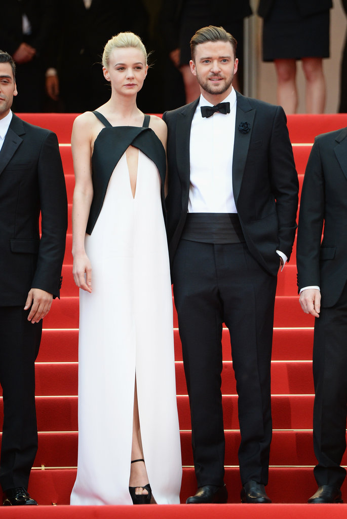 Carey Mulligan went with a chic black-and-white Vionnet gown for the Inside Llewyn Davis premiere, which showed off just the right amount of skin via a cutout on the bodice and a subtle front slit. Her dapper costar Justin Timberlake provided a matching black-and-white foil on the red carpet.